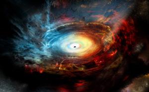 Gaura-Neagra Universe-Black-Hole-Red