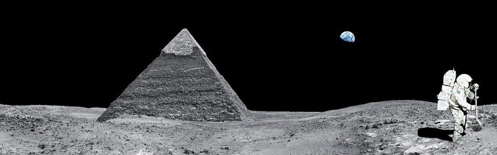 piramide extraterestrii luna , fenomene paranormale, ufo