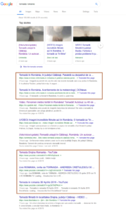 tornada romania - Google Search-SEO-SERp-SPAM