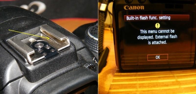 Canon EOS built-n flash problem