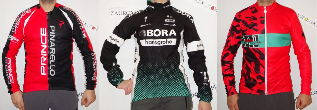 bluze ciclism colorate rosu-negru