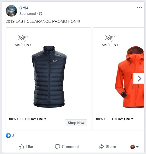 ads-with-fake-product on-facebook