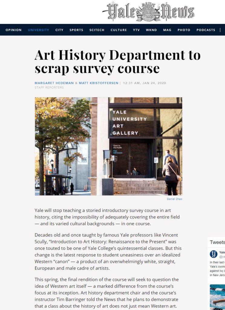 Art History Department to scrap survey course